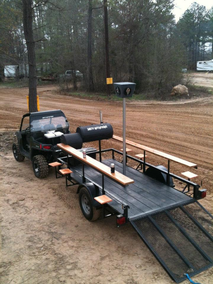 Ultimate Party Trailer Smoker Stripper Pole Kawasaki